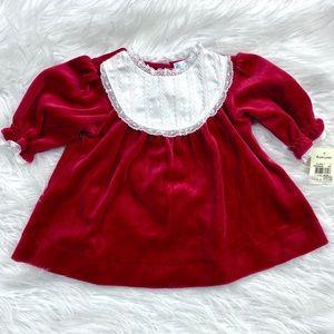 Ralph Lauren Red Velvet Holiday Dress Christmas